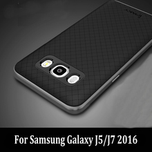 Original iPaky For Samsung Galaxy J5 2016 Case J7 2016 Case Luxury Fashion Armor Soft Silicone Back Phone Cover PC Frame Fundas