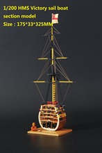 LOVE MODEL Free shipping Scale 1/200 HMS Victory Wooden Sailboat & Brass cannons & wooden base & decoration kits