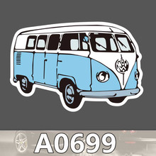 A0699 Campus Bus Waterproof Sticker Single Sale Cool Laptop Luggage Fridge Skateboard Graffiti Cartoon Notebook Stickers