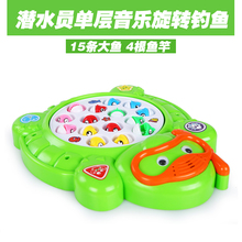 Kids toys Fishing toy Children electric music monolayer pool fish game Parenting family outdoor baby toy gift no362