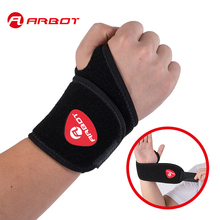 Arbot Adjustable Wrist Support Wrist Joint Brace Black Nylon Sport Wristband Use For Ball Games Running Fitness
