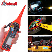 Universal Automotive Electric Circuit Tester 0-380V Automotive Multimeter Lamp with LCD Screen Display and Russian User Manual(China)