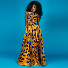 Buy BIG size vintage Rockabilly big swing African Print Clothing dashiki long maxi dress summer sleeveless tunic party backless robe for $23.28 in AliExpress store