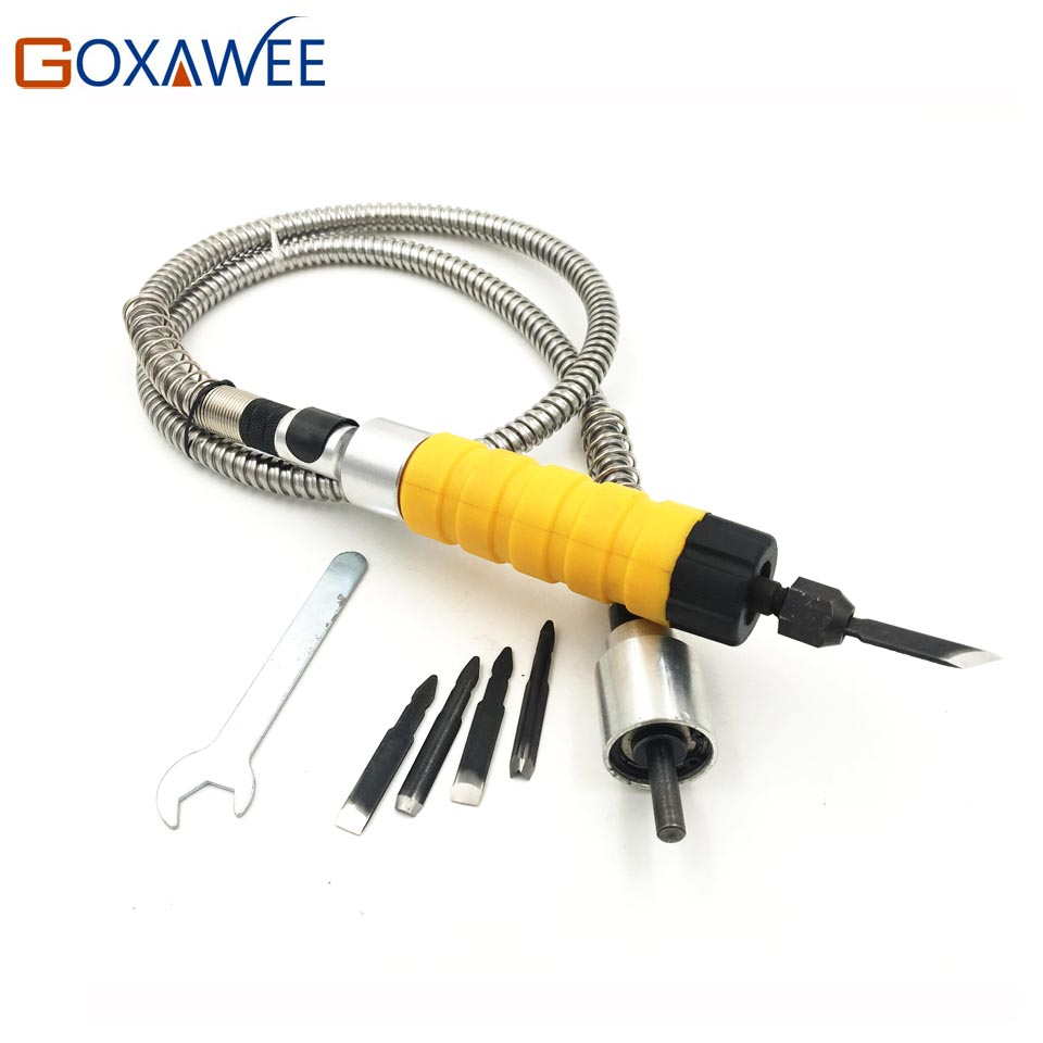 6mm Flexible Flex Shaft Fits + Carving Handpiece For Dremel Style Electric Drill Rotary Tool Accessories Rotary Grinder Tools<br>