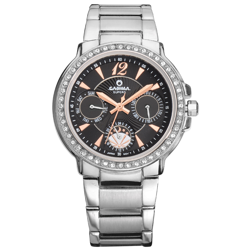 Relogio feminino Women Stainless Steel Diamond Dial Quartz Watch Fashion Casual Ladies Wrist watch waterproof  CASIMA#2902<br>