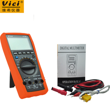 Vici VC99 3 6/7 Auto range digital multimeter voltmeter ammeter & Thermal Couple TK cable ACV/DCV/ACA/DCA(China)