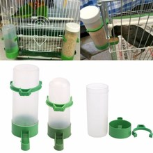 4pcs/set Safe Plastic Bird Pet Drinker Feeder Waterer Clip for Aviary Budgie Cockatiel Lovebird Automatic Drinking Fountains