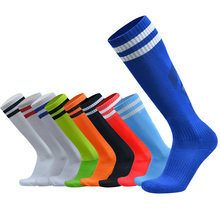 2017 Barreled football socks towel bottom Striped knee stockings Child Men Kids Boys Soccer sock Absorbent sox non-slip movement