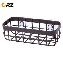 Wall Mounted Storage Rack Suction cup Kitchen Drain Basket Bathroom Hanging Storage Basket Home Organizer Shelf