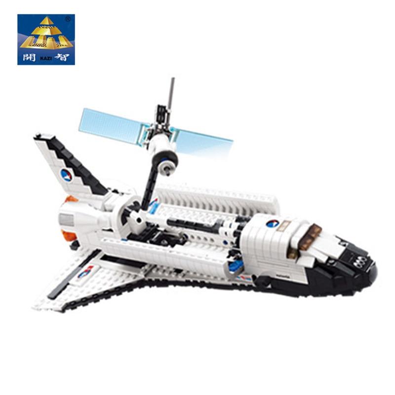 New Style Moveable Kazi Building Blocks Shuttle Atlantis Learning Education Toys Robotic Arm Rotate Freely &amp; Astronaut Driver<br>