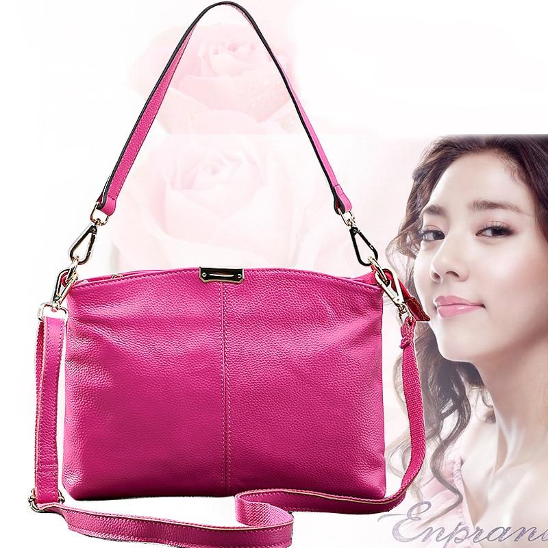 New casual Women Handbag Genuine Leather Bag Lichee Pattern Shoulder Bags Bolsas Crossbody Tote Fashion Women Messenger Bags<br>