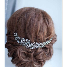 Rhinestone Crystals Soft Headband Hair Chains Headband Women Party Wedding Bride Bridal Hair Jewelry Accessories TD23