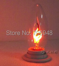 E27 3w candle light bulbs 90-265v flame blinking effect(China)