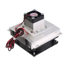 Thermoelectric Peltier Cooler Refrigeration Semiconductor Cooling System Kit Cooler Fan Finished Kit Computer Components(China)