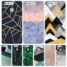 Marble Line Luxury Cover phone Case for huawei Ascend P7 P8 P9 lite plus G8 G7 honor 5C 2017