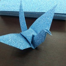 "120sheets 6 colors Glitter Paper 15x15cm(5.8""x5.8"") Crane Flower Origami Paper(China)"