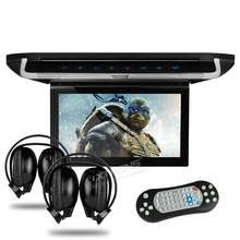 "XTRONS HDMI 10"" HD Screen Car MPV Roof Flip Down Overhead Monitor USB DVD Player Supports DVD/CD/VCD/SD/USB +2 IR Headphones"