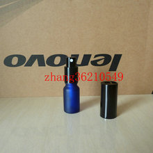 30pcs 10ml blue frosted Glass perfume Bottle With aluminum black mist sprayer. 10ml glass perfume atomizer bottle container