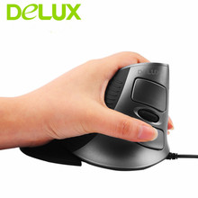 Delux Wired Laser Mouse Human Engineering Mouse M618 Laser Ergonomic Vertical Mouse for PC laptop computer Wholesale(China)