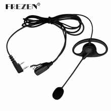 D-Shape PTT Earpiece Headset With Boom Mic For Kenwood BAOFENG Radios UV-5R 777 888s HYT PUXING High Quality(China)
