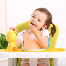 Hot sale New Baby Silicone Bib Stereo Disposable Bib Kids Bibs Children Pick Rice Pocket Cute Boy And Girls Bibs Green