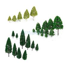 SPMART Scale Model 27 Mixed Model Trees Train Railways Architecture War Game Scenery Layout 3-16 cm
