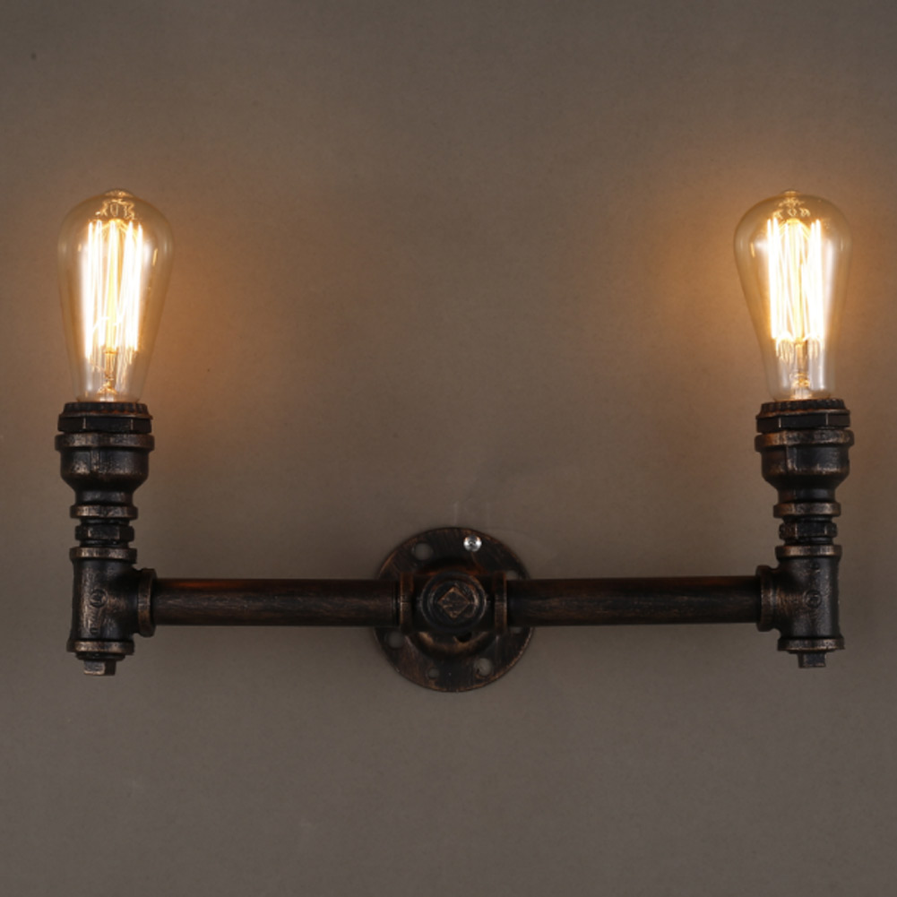 Water Pipe Wall Lamps Vintage American Country Mesh Cover Industrial Retro Wall Light Warehouse Sconce for Home Lighting<br><br>Aliexpress