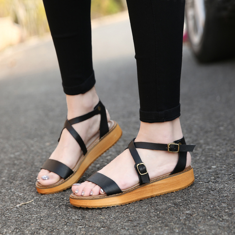 Summer Large Size Shoes Woman Roman Style Sandals Cool Comfortable Zapatos Mujer Fashion Wedge Ladies Sandal Size 34-43<br><br>Aliexpress
