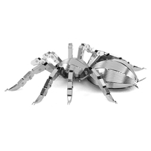 Mini Insect Toy DIY Metallic 3D Animal Metal Spider Puzzle Model Jigsaw Puzzles Educational Learing Toys For Kids