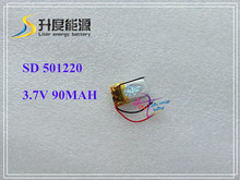 501220 051220 90mah Bluetooth headset 3D self dry polymer lithium battery manufacturers selling glasses