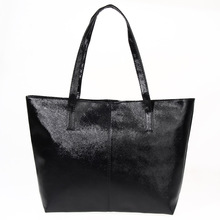 New Designer Women Leather Handbags Black Bucket Shoulder Bags Bolsas Mujer Ladies Large Capacity Shopping Bag Purse 1STL