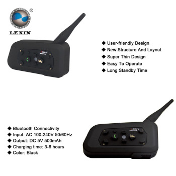 Marca lexin r6 walkie talkie fone de ouvido do capacete interfone motocicleta do bluetooth interfone 1000 m liga para 6 pilotos multi