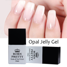 1 Bottle 10ml BORN PRETTY Opal Jelly Gel White Soak Off Manicure Nail Art UV Gel Polish Varnish