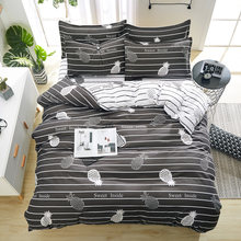 birthday present Duvet Cover flat Bed Sheet linen pillowcase Bedding Sets Full King Twin Queen size 3/ 4pcs(China)