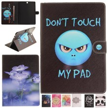 Tablet Case for Samsung Galaxy Tab S2 9.7 SM-T810/T815 Case Anger Face PU Leather Silicon Stand Magnetic Smart Flip Wallet Cover