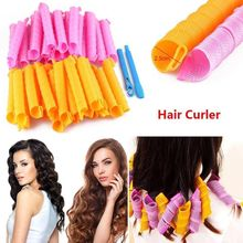 40pcs Magic Leverag Hair Curlers Tool Styling Rollers Spiral Circle 55cm DIY Plastic Twist Curly Hair Rollers