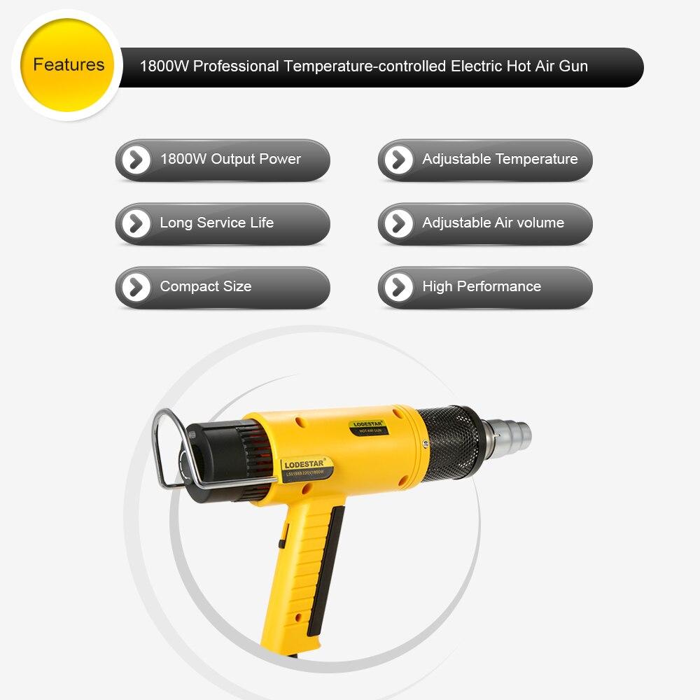 1800W AC220V Electric hot air gun hot gun soldering Heat Gun Air Heater Thermoregulator Temperature Shrinking Welding Tool<br>