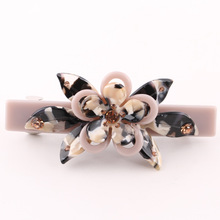 New Sweet Flower Shape Cellulose Acetate Hair Clips Barrette Acrylic Hair Clips for Women SA040