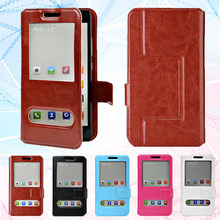 "New Items! Fashion Flip PU Leather Case Cover For MTC Smart Sprint 4G Cases Universal 4.5"" Phone Holster Cover Bag,F4"