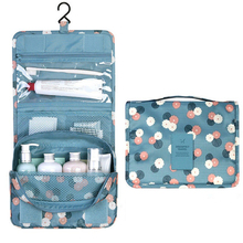 Portable Polyester bathroom bag Hanging toiletry bag holder Maquillage makeup organizer Travel shower pouch Waterproof bag