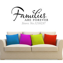 DCTOP Families Are Forever Wall Sticker Decal Art Words Self Adhesive Vinyl Wallpaper Removable Modern Design Living Room
