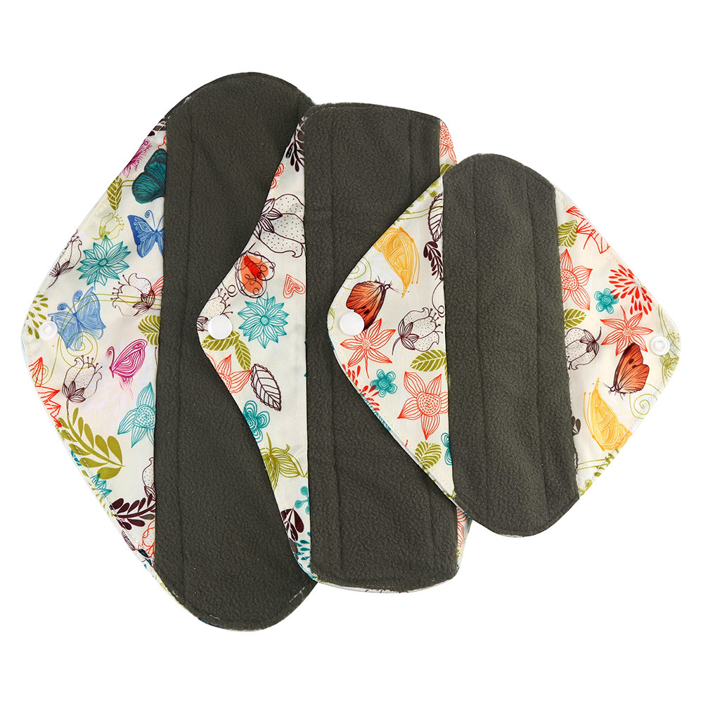 1pc New Arrival Women's Reusable Bamboo Cloth Washable Menstrual Pad Mama Sanitary Towel Pad Pretty Feminine Hygiene Product 14