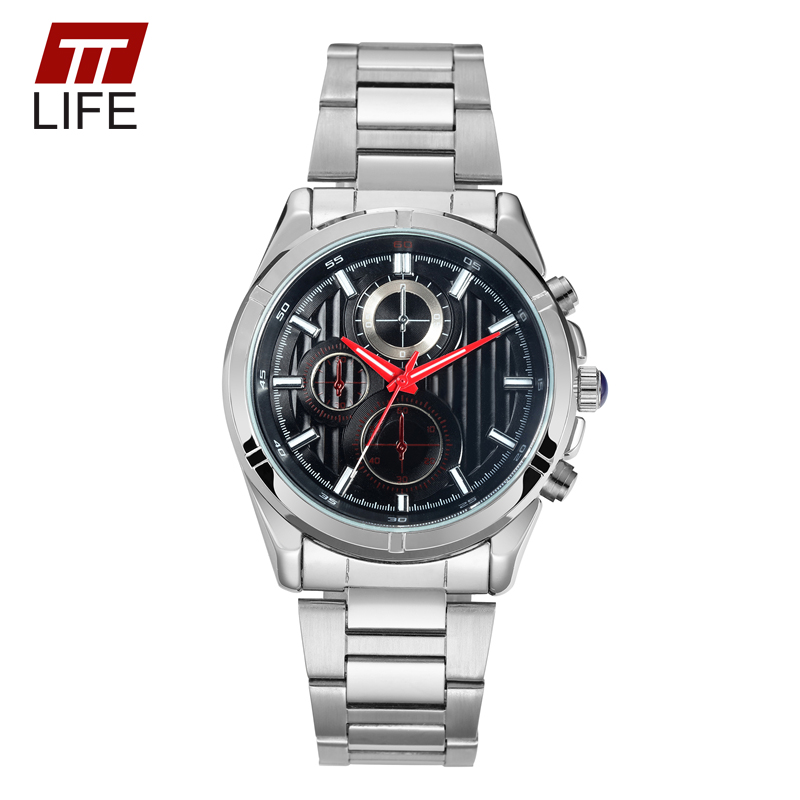TTLIFE 2017 Analog Quartz Wrist Watch Waterproof Mens Fashion Dress Watch Stainless Steel Mens Watches Luxury Brand Male Clock<br><br>Aliexpress