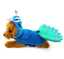 Puppy Dog Peacock Costume Hat Fancy Dress for Small Boy Girl Pet Dog Cat under 20 Pounds Blue