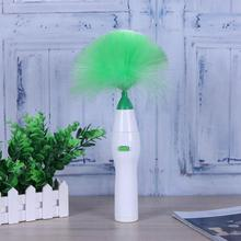 Feather Duster Brush Creative Electric Household Cleaner Cars Cleaning Device Dusting Soft Brush Set No Battery ABS(China)