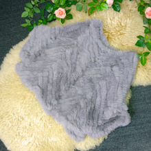 SF0146 China Factory Supply Real Rabbit Fur Knitted Fur Coat in Free Size