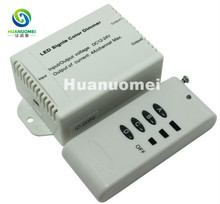 RF Audio constant voltage dimmers;led single color dimmer controller;DC5V/DC12~24V;Output current:4A*2channels(China)