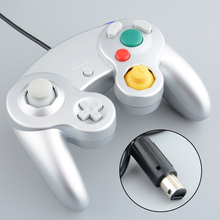 Wired Game Controller Gamepad Joystick Handheld For Nintendo for Wii for NGC Silver