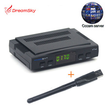 HD Mini satellite TV receiver Freesat V7+USB wifi DVB-S2  with1 year cccam cline USB WIFI Dongle,Patch,Powervu Freesat V7