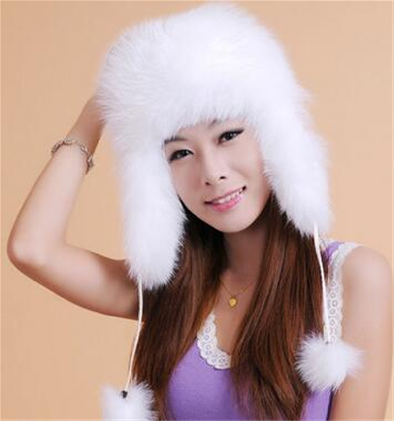 2017 Hot Sale Newest Fashion Winter Raccoon&amp;Fox Fur Hat With Ear Flaps For Women Thick And Super Warm Winter Lei Feng Cap FemalОдежда и ак�е��уары<br><br><br>Aliexpress